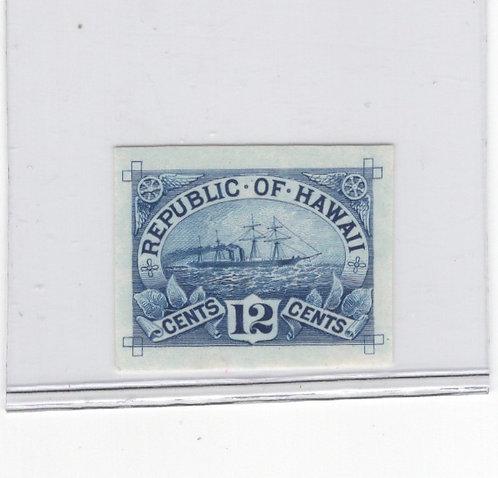 *16-12aa Hawaii #78P3 -Plate Proof