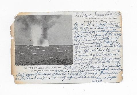 Kilauea Volcano Postcard - Singed