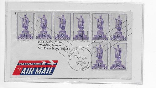 15-153 FDC - Kamehameha- Air Mail