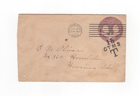 C439 Hawaii 1894 Postage Due