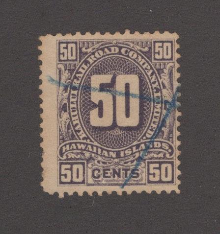 17-21K M-H #155  50¢ KAHULUI RR   *