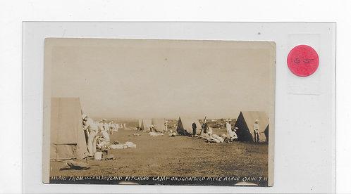 Sailors-USS Maryland Camping - Schofield Barracks