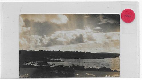 Photo Card 1912 Hanalei Scene