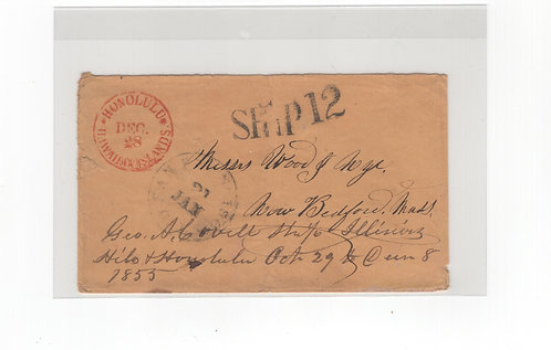 C515 Hawaii 1850's Stampless Cover