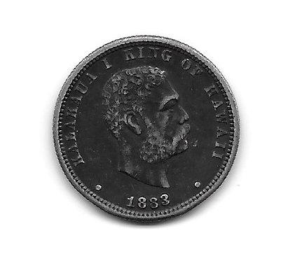 Hawaii 1883 Quarter