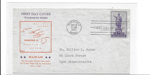 First Day Cover Honoring the Islands