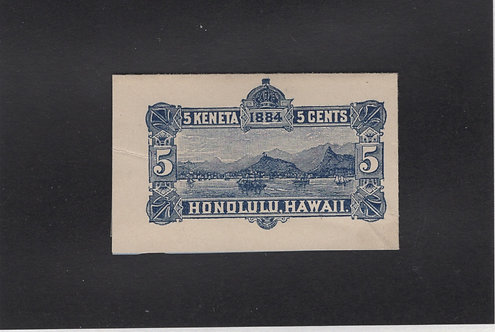 17-53c Hawaii #U8 Blue Inside