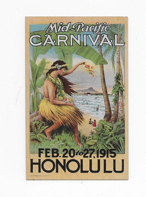 CA97* HI-1915 Mid-Pacific Carnival Card-Mint