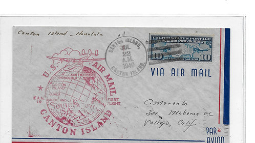 Canton Island First Flight Cover