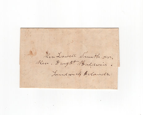 C518  1848 Stampless Folded Letter