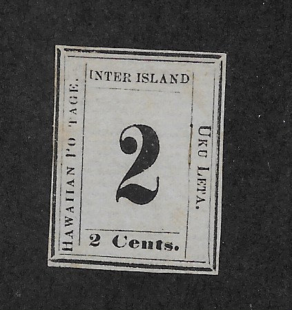 "HAWAII #24b ""S"" OF POSTAGE OMITTED"