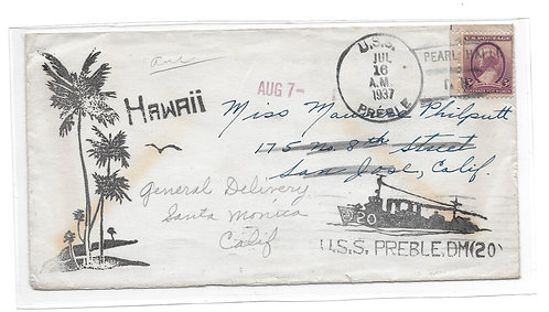 USS Preble with Pearl Harbor Cancel