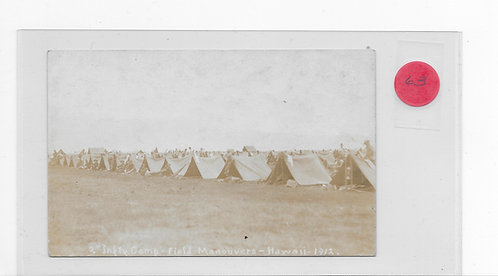 2nd Infantry Camp - Field Manouvers - 1912