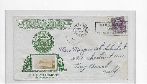 U.S.S. Chaumont Naval Transportation