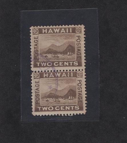 16-4e Hawaii#75 Rare PairVariety