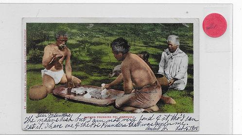 Natives Pounding Poi