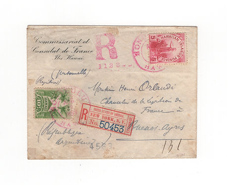 CA114* Registered Cover to Argentina