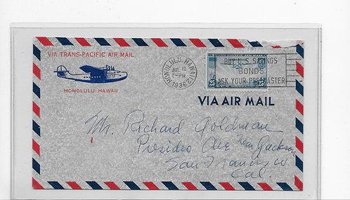 Trans-Pacific Air Mail to San Francisco