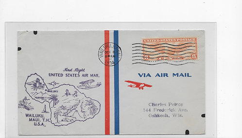 C19 First Flight Cover 10/8/1934  15-92