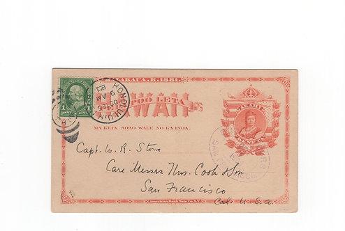 C448 Hawaii 1903 Postal Card UX1