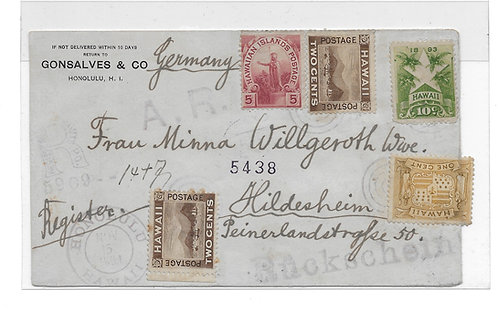 Hawaii-Registered Cover to Germany