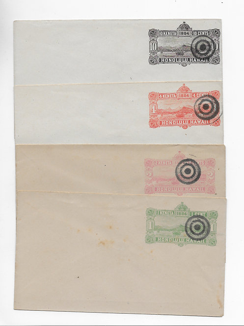 1st Issue envelopes with unusual cancels