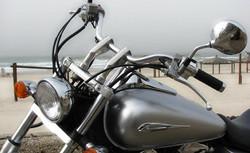 Silber Motorrad-Vorder