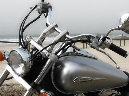 Plata delantero de la moto