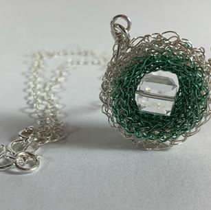 Swarovski Crystal Square Peg Necklace