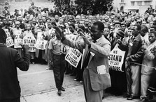 anti apartheid rally in the 1950's.