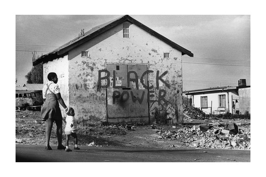 Black Power on a township wall. Photo by Peter Magubane.