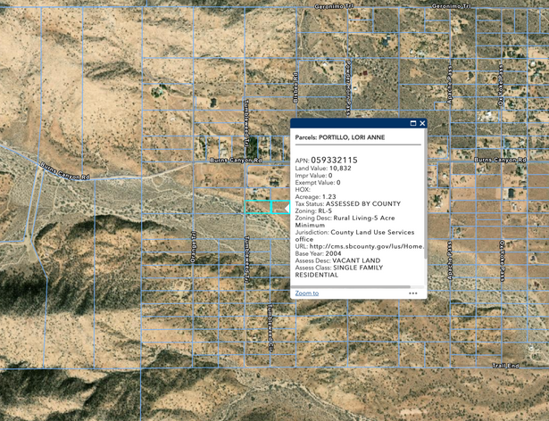 3000 Tumbleweed Map