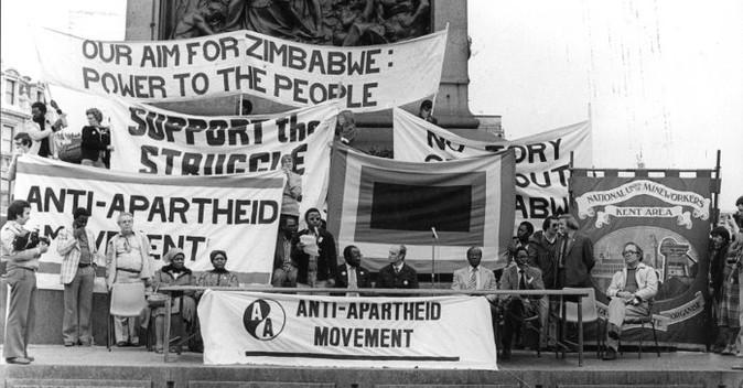 An anti Apartheid rally, location uknown.