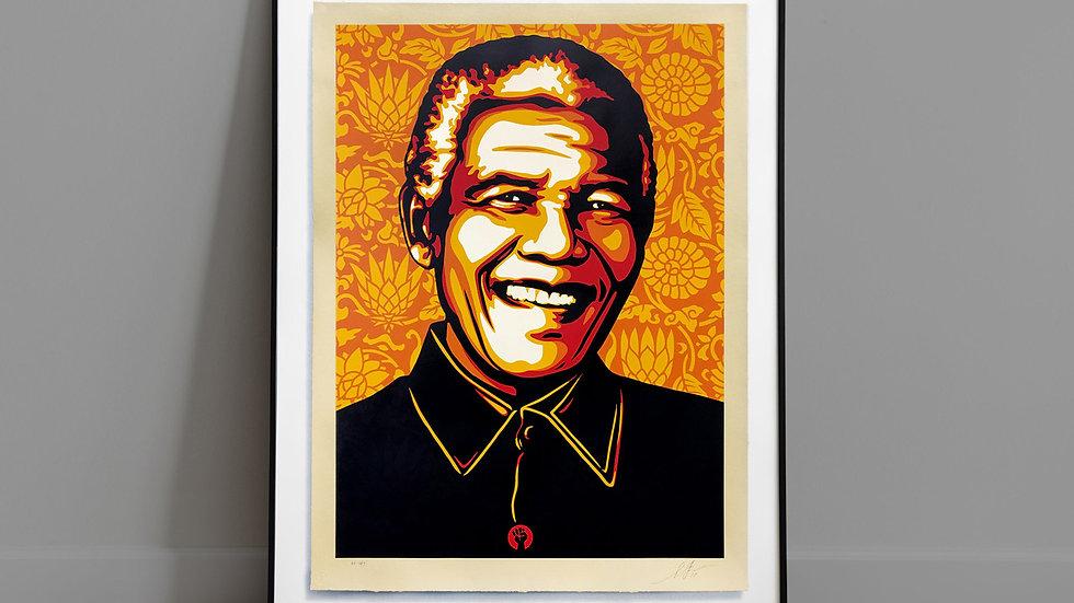 ORANGE 'RARE' MANDELA by SHEPARD FAIREY Serigraph Edition
