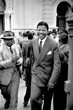 Nelson Mandela at the treason trial, 1964