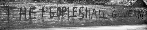 Banned pro democracy graffiti