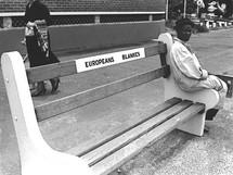 Public benches were segregated.