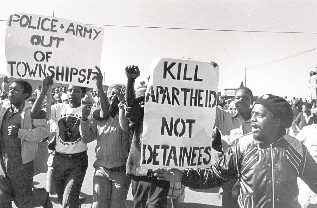 On ocasion the South African army was used to quell democratic protests.