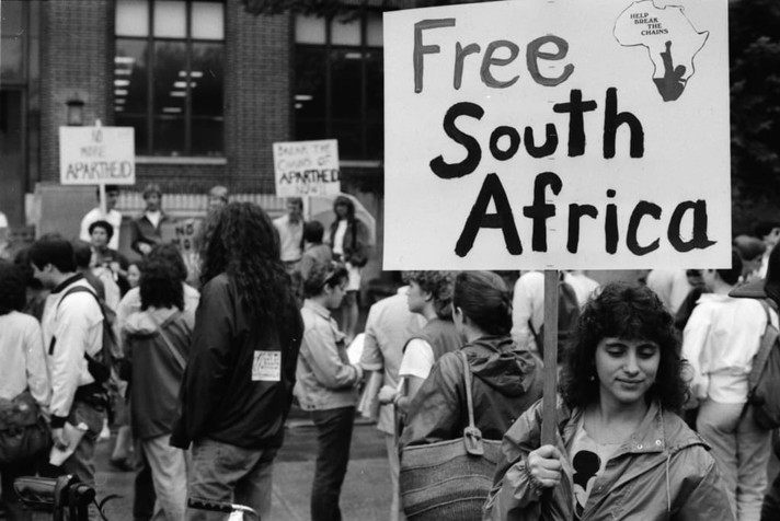 The anti apartheid movement was a global struggle.