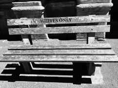 a whites only bench