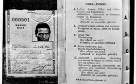 A typical Apartheid era passbook was required to be carried at all times on threat of imprisonment.