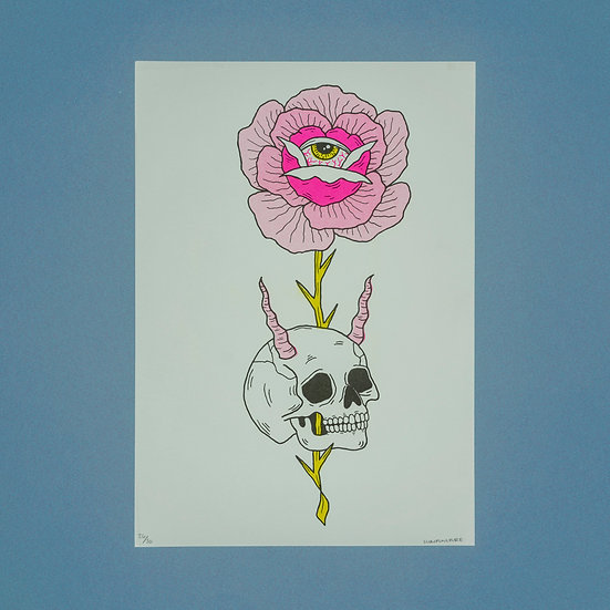 Skull Flower Set