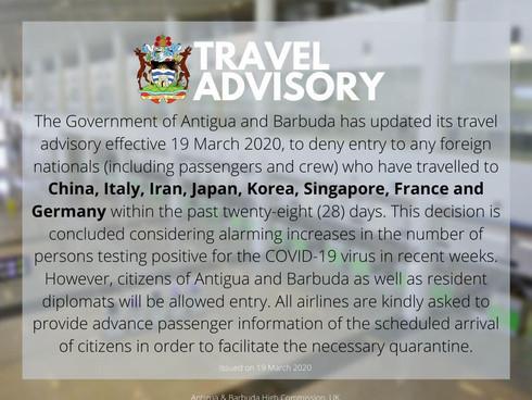 Latest Travel Advisory