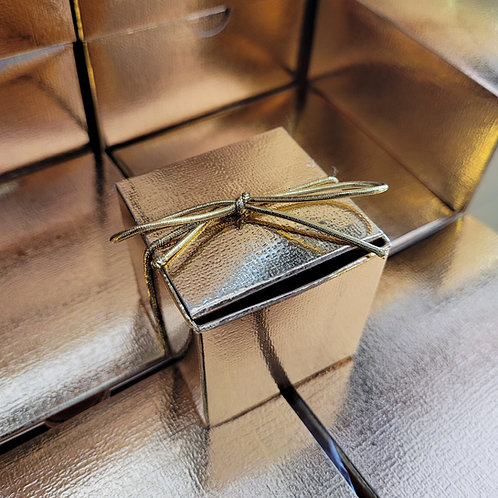1pc. Laddoo Golden Box w/ Ribbon