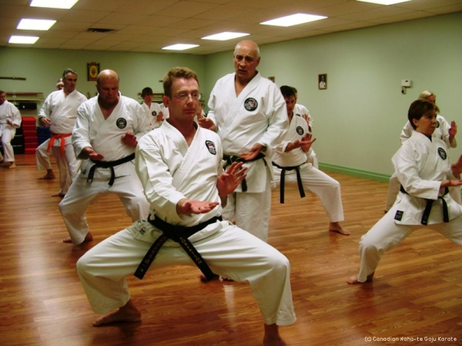 A photo of a formal kata class