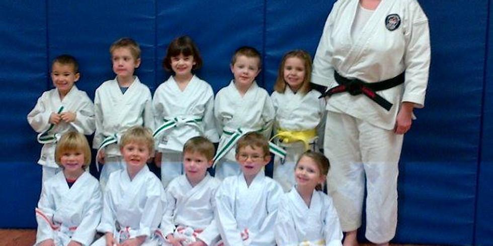 Kinder Karate Stripe Ceremony