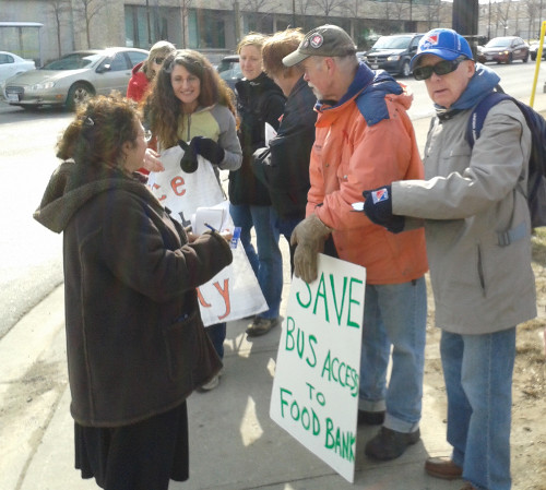 Access to Emergency Food Hamper program in jeopardy: March 28th event to oppose cancellation of bus