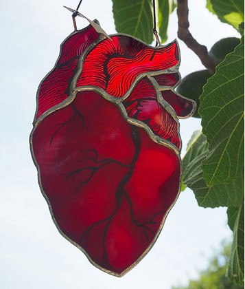 Suncatcher Coeur Rouge