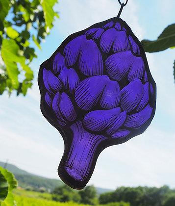 Suncatcher Artichaut Violet