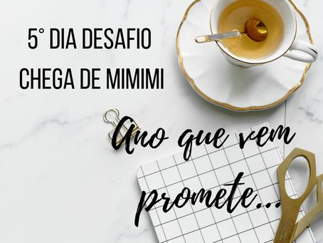 Dia 5: Ano que vem promete ( Desafio Chega de MIMIMI )